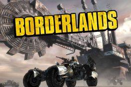 Bild der Borderlands auf Pandora mit einem Geländewagen und einem Bergbraufahrzeug