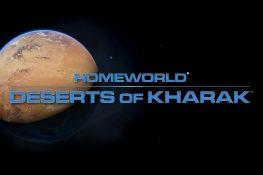 Homeworld: Deserts of Kharak Titelbild - Ansicht des Wüstenplaneten Kharak vom Weltraum
