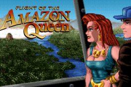 Bildschirmfoto mit dem Amazonas Dschungel im Hintergrund und der Amazon Queen sowie Joe King im Vordergrund