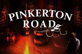 Düstere Gabriel Knight Collage mit Pinkerton Road Logo darüber