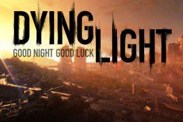 Skyline von Harran bei Sonnenuntergang mit Dying Light Schriftzug